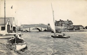 Vintage 1963 Real Photo Postcard, The Bridge Potter Heigham, Norfolk, Sailing 2Z