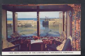 Cornwall Postcard - View From Lounge of The Lobster Pot, Mousehole   HM637