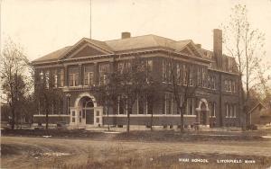 Litchfield Minnesota~High School~Houses~Dirt Road T~CG Crosby Photo~1908 RPPC