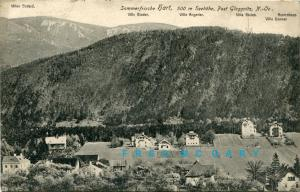 1916 Hart/Dobrova Austria PC: Panorama With Specific Villa Owners Called Out