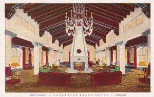 Illinois Chicago Edgewater Beach Hotel West Lounge