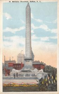 Buffalo New York~McKinley Monument~Man & Lady on Stairway~Colorful Flowers~1920s