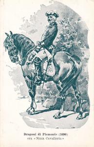 Patriotic Military Unit postcard , Italy , 1900-10s ; Dragoni Di Piemonte