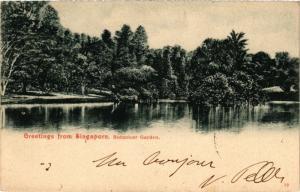 CPA AK SINGAPORE Greetings from Singapore - Botanicer Garden (a1480)