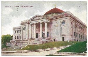 Des Moines, IA - First M. E. Church - 1910