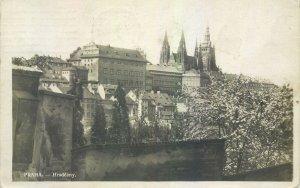 Postcard Czech Republic Prague old town hill