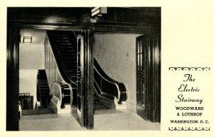 DC - Washington. Woodward & Lothrop Dept. Store. The Electric Stairway