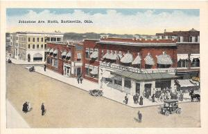 A58/ Bartlesville Oklahoma Ok Postcard c1920 Johnstone Avenue North Bank Stores