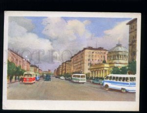 212390 RUS Djakov Avtovo Leningrad Prospect Strikes postcard