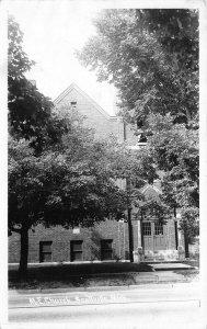 Scottville MI~United Methodist Episcopal Church~Summer Shade Trees~RPPC 1940s