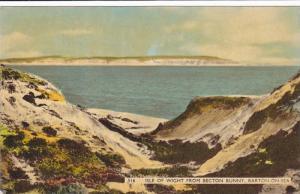 Isle Of Wight From Becton Bunny, Barton-On-Sea (Hampshire), England, UK, PU-1960