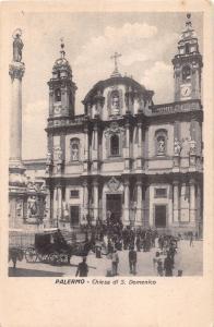 PALERMO SICILY ITALY CHIESA di S DOMENICO POSTCARD 1910s