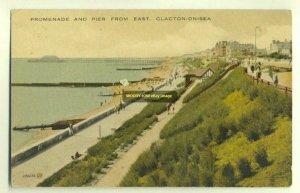 tp2793 - Promenade & Pier from East , Clacton-on-Sea , Essex - postcard