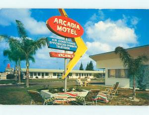Unused Pre-1980 ARCADIA COURT MOTEL Clearwater Florida FL u3672