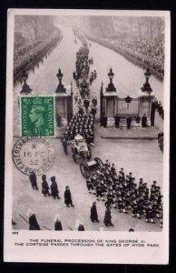 1952 Great Britain Sc #239 Funeral Procession /King George VI Sta...