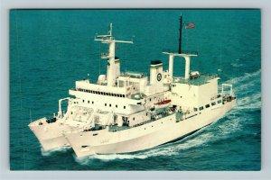 USNS Hayes T-Agor 16 Chrome Postcard