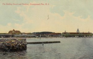 NARRAGANSETT PIER, Rhode Island, PU-1911; Bathing Beach & Pavilion