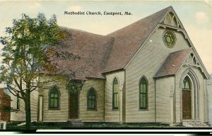 Eastport Maine~Methodist Church~A Good Old Church~1910 Postcard