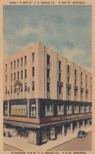 MONTREAL , Quebec , Canada , 1930-40s ; 5 & 10 S.S. KRESGE Store