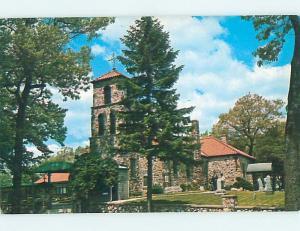 Unused Pre-1980 CHURCH SCENE Brooklyn Michigan MI L3076