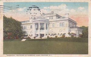 Rhode Island Newport Sherwood Residence Of Pembroke Jones1920