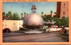 California Los Angeles Brown Derby Restaurant 1951