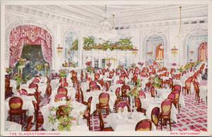 The Blackstone Chicago IL Restaurant Interior Red Pink Unused Postcard F8