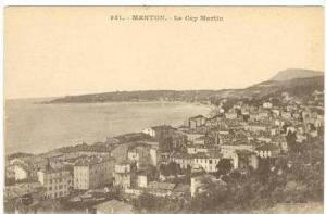 Aerial of Town / Le Cap Martin, Menton,France 1900-10s