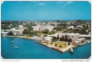 Bermuda Aerial View The Bermudiana Hotel 1957