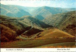 Vintage Idaho Souvenir Postcard, Highway 3 Switchbacks, pb24