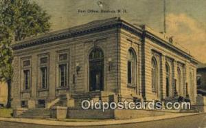 Nashua, NH USA,  Post Office Postcard, Postoffice Post Card Old Vintage Antiq...