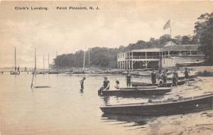 E5/ Point Pleasant New Jersey NJ Postcard c1920s Clark's Landing Swim Pavilion