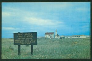 Point Wilson Lighthouse Washington Puget Sound Fort Worden State Park Postcard