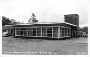 Burnside Kentucky~Seven Gables Restaurant~50s Cars~Pulaski County~RPPC-Postcard
