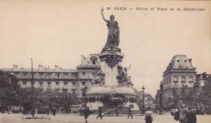 Statue Et Place De La Republique, Paris, France, 1900-1910s
