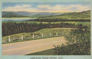 Greetings From Kippen Ontario Canada Vintage Postcard