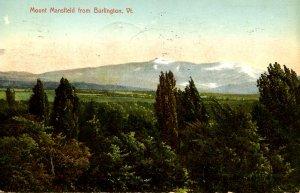 VT -  Mt Mansfield from Burlington