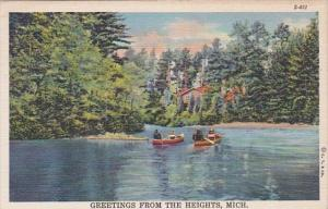Michigan Greetings From The Heights 1949 Curteich