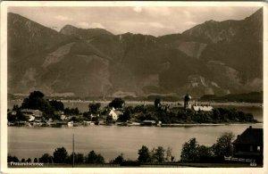 Vintage 1950s Real Photo Postcard RPPC Frauenchiemsee Island Germany