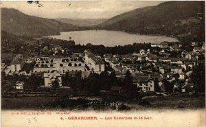 CPA GÉRARDMER Les Casernes et le Lac (402474)