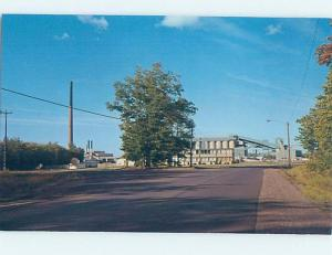 Unused Pre-1980 FACTORY SCENE White Pine Michigan MI c6569