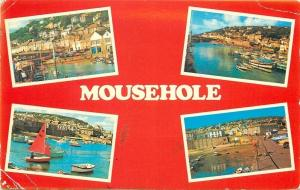 Mousehole England~4 Scenes~Harbor~Fishing~1960s Postcard