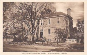 Virginia Williamsburg The Ludwell Paradise House Albertype