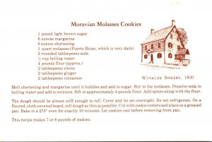 North Carolina Winston Salem Winkler Bakery Moravian Molasses Cookies Recipe