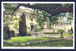 Huntington Library San Marino California unused c1930's