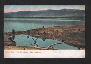 077927 Dead Sea view & dervish on coast Vintage PC