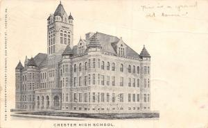Chester Pennsylvania~Chester High School~This is a Grand Old Town 1904 PC