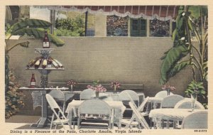 VIRGIN ISLANDS, 1930-40s; Dining is a Pleasure at the Patio, Charlotte Amalie