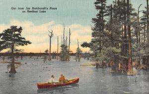 Reelfoot Lake Tennessee Hutchcrafts Place Waterfront Antique Postcard KA688951