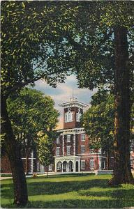 Linen Card of Center Hall Wabash College Crawfordsville IN